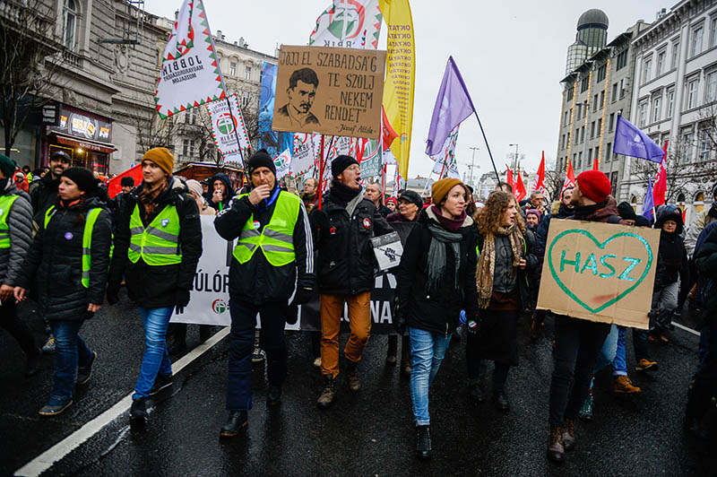 Митинг в Будапеште