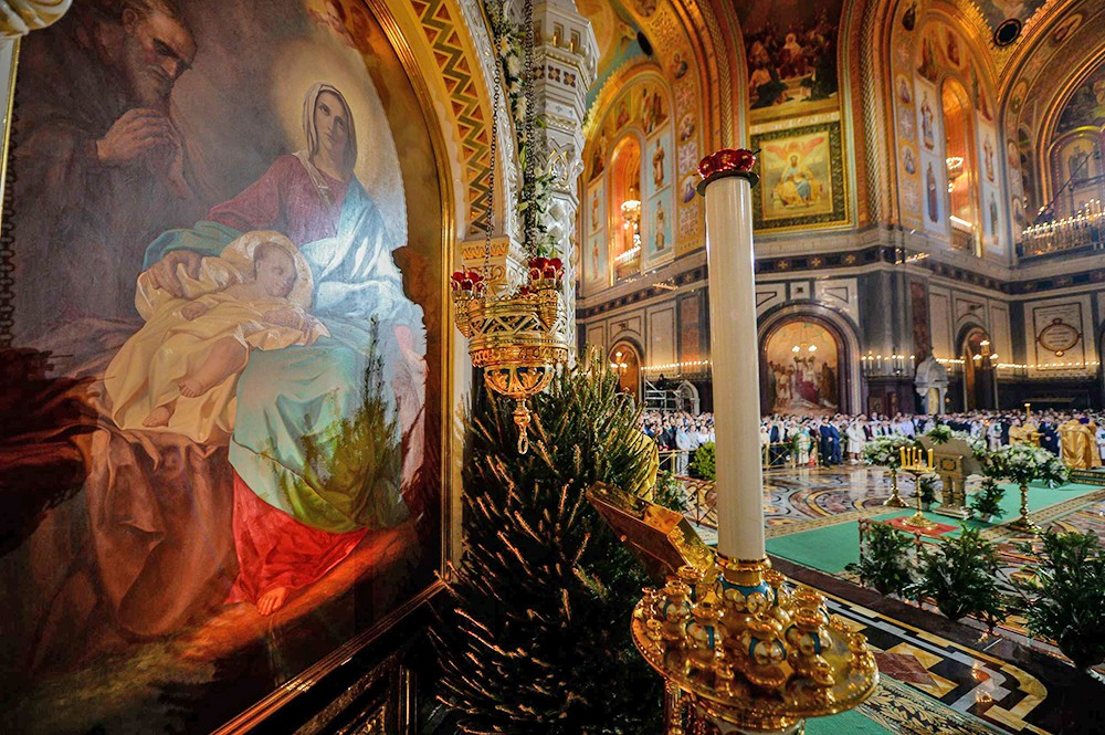 Праздник Рождества Христова в Храме Христа Спасителя