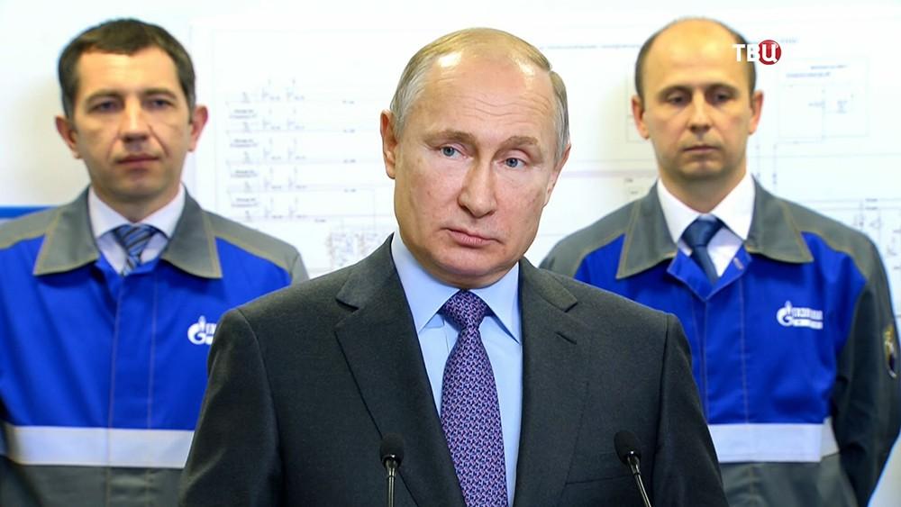 Владимир Путин на церемонии ввода в эксплуатацию регазификационного терминала СПГ в Калининграде