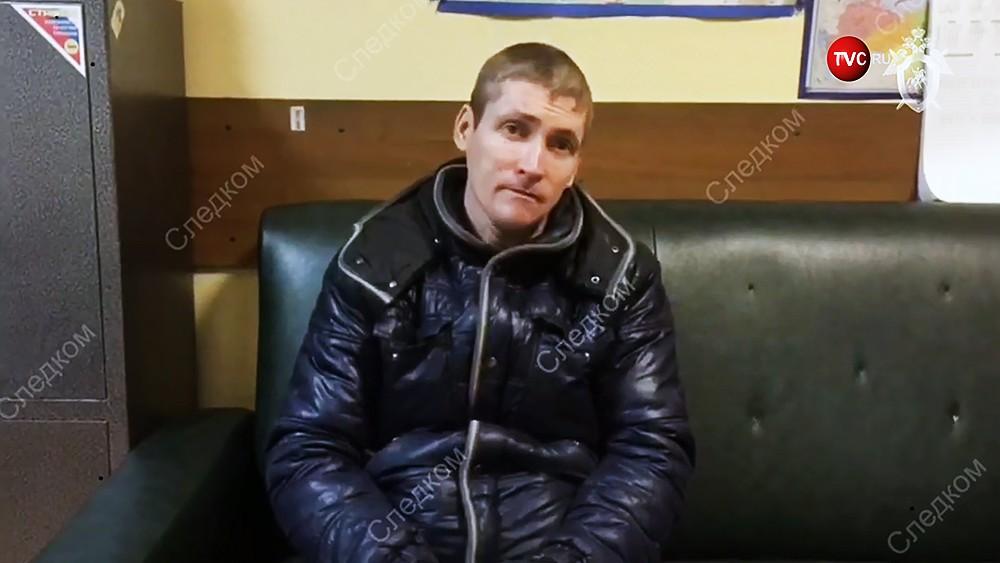Допрос подозреваемого в убийстве полицейского в Подольске