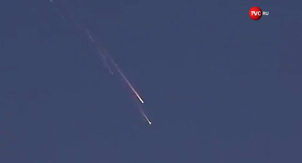 Падение российского спутника
