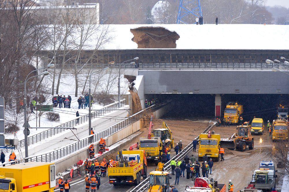 Прорыв воды в Тушинском тоннеле