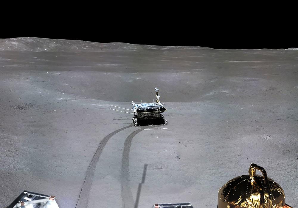 """Снимки обратной стороны Луны, выполненные  зондом """"Чанъэ-4"""""""