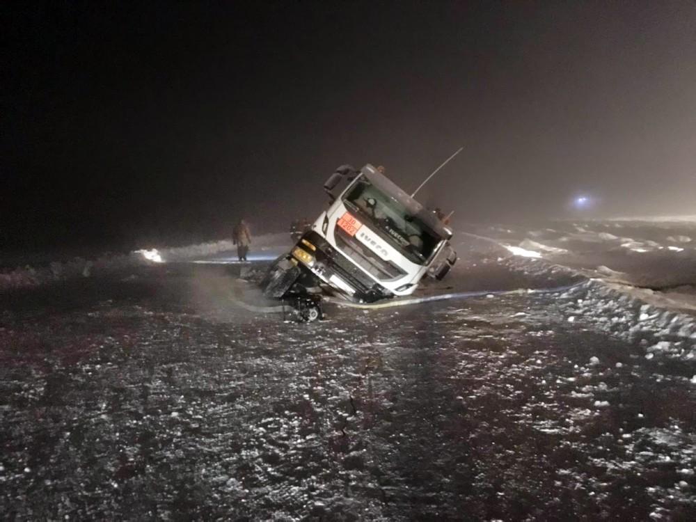 Бензовоз провалился под лёд