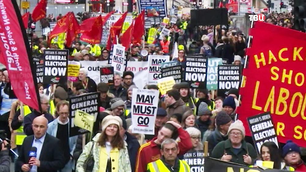 """Протесты """"Желтых жилетов"""" в Великобритании"""