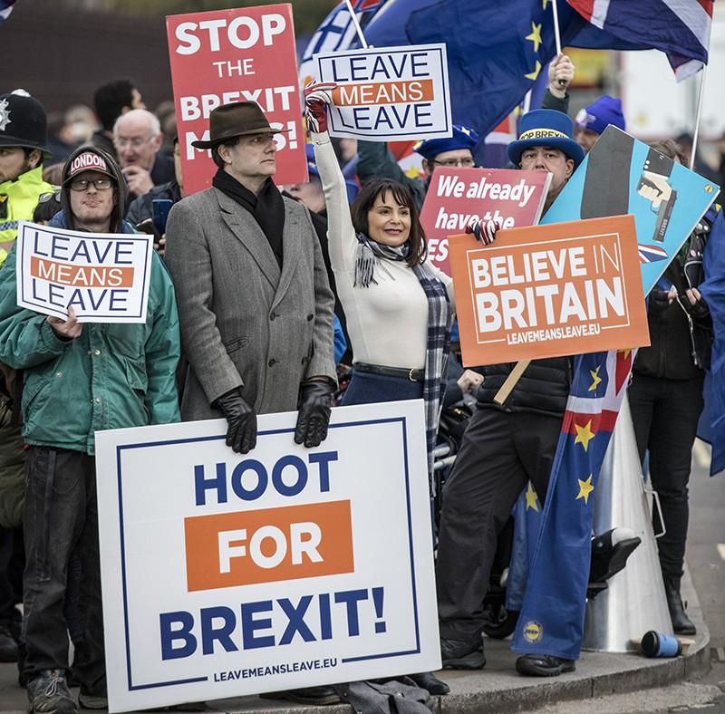 Акция протеста в Лондоне