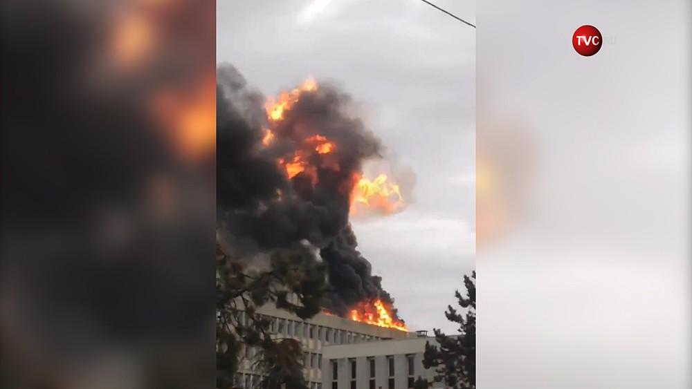 Взрыв в студгородке университете в Лионе