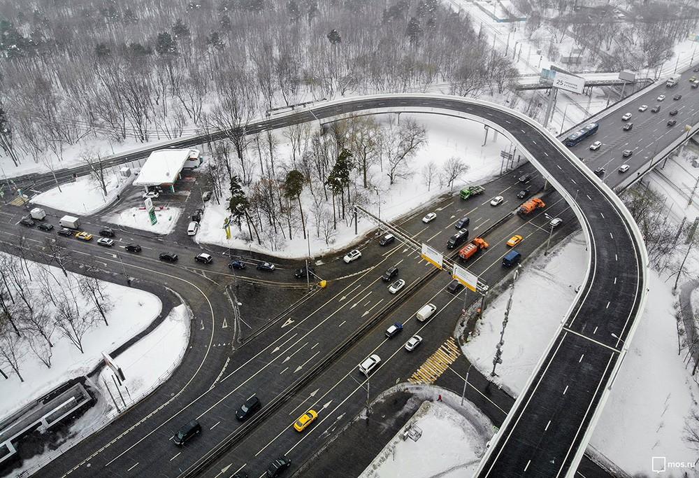 Открытие разворотной эстакады на Волоколамском шоссе