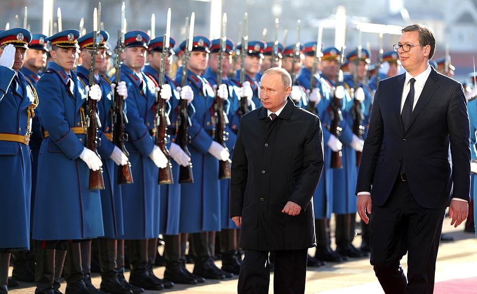 Официальный визит президента России Владимира Путина в Сербию