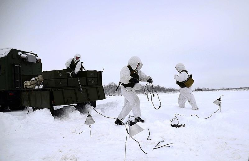 Солдаты инженерно-саперного подразделения