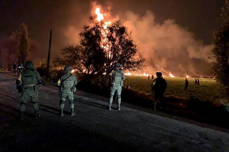 На месте взрыва в Мексике