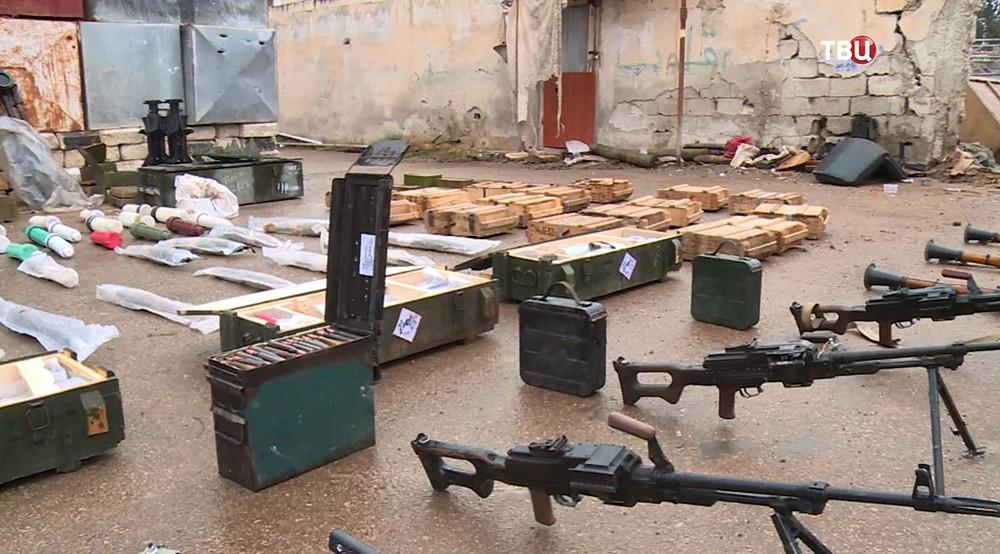 Схрон с боеприпасами и оружием