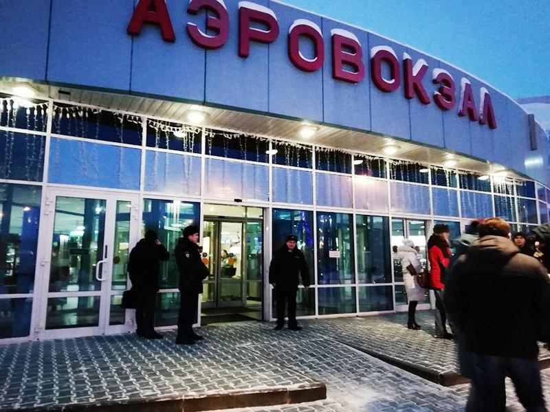 У аэропорта Ханты-Мансийска