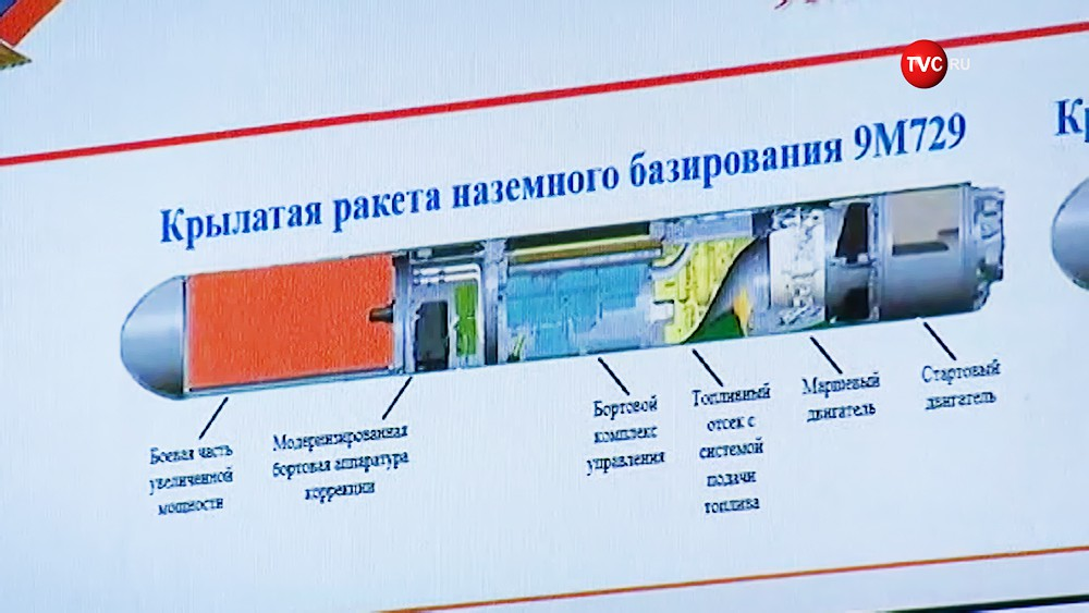 Характеристики крылатой ракеты 9М729