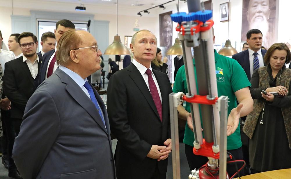 Владимир Путин и Виктор Садовничий
