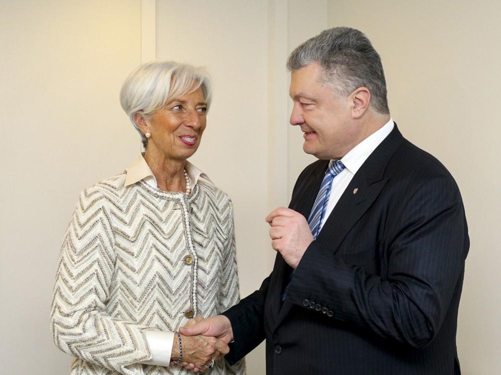 Пётр Порошенко и Кристин Лагард