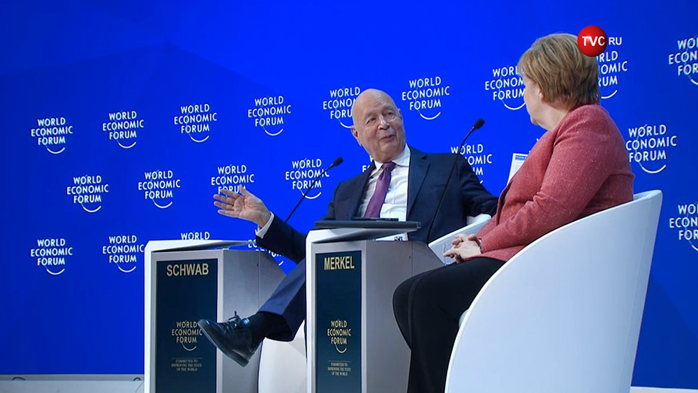 Ангела Меркель на экономическом форуме в Давосе