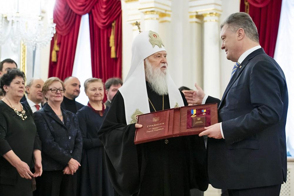 Пётр Порошенко и Филарет