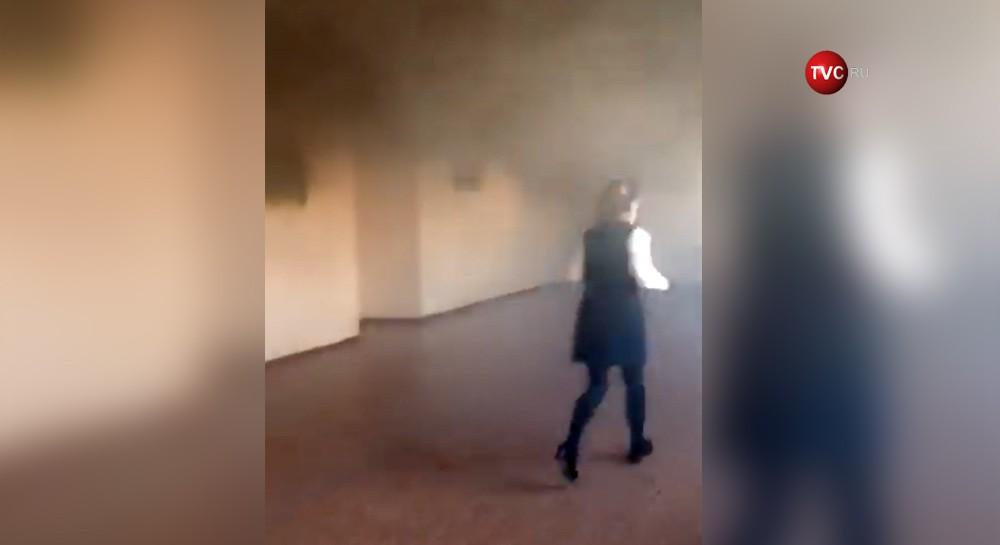 Пожар в школе в Владивостоке