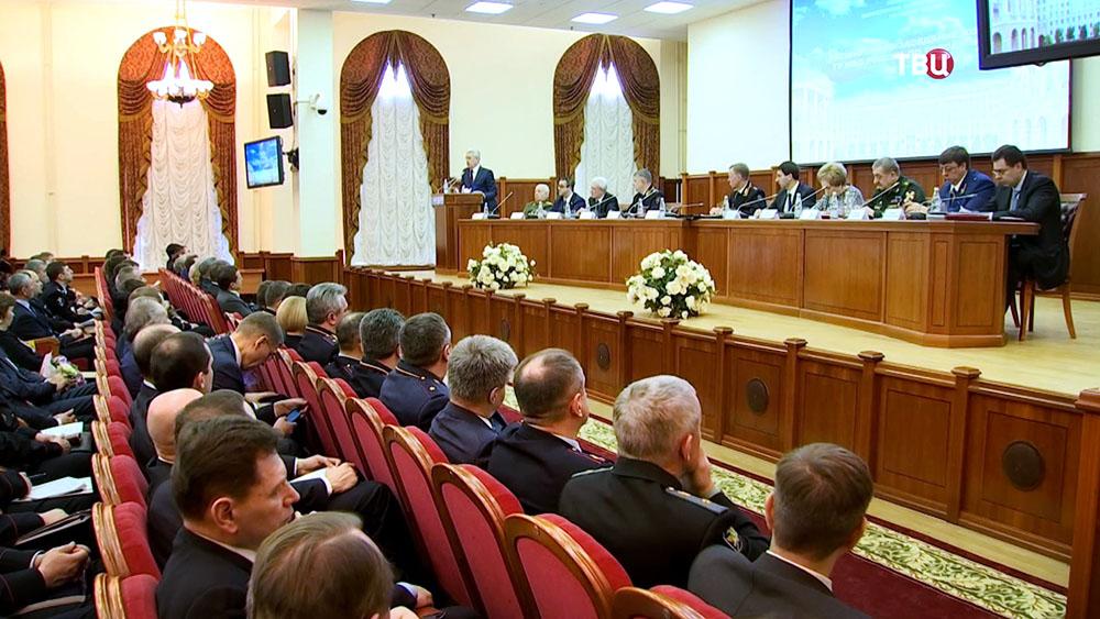Заседание коллегии ГУ МВД России по Москве