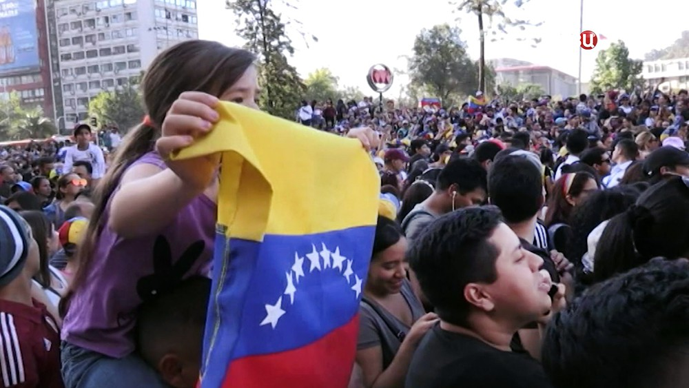 Митинг в Венесуэле