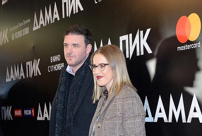 Актер Максим Виторган и Ксения Собчак