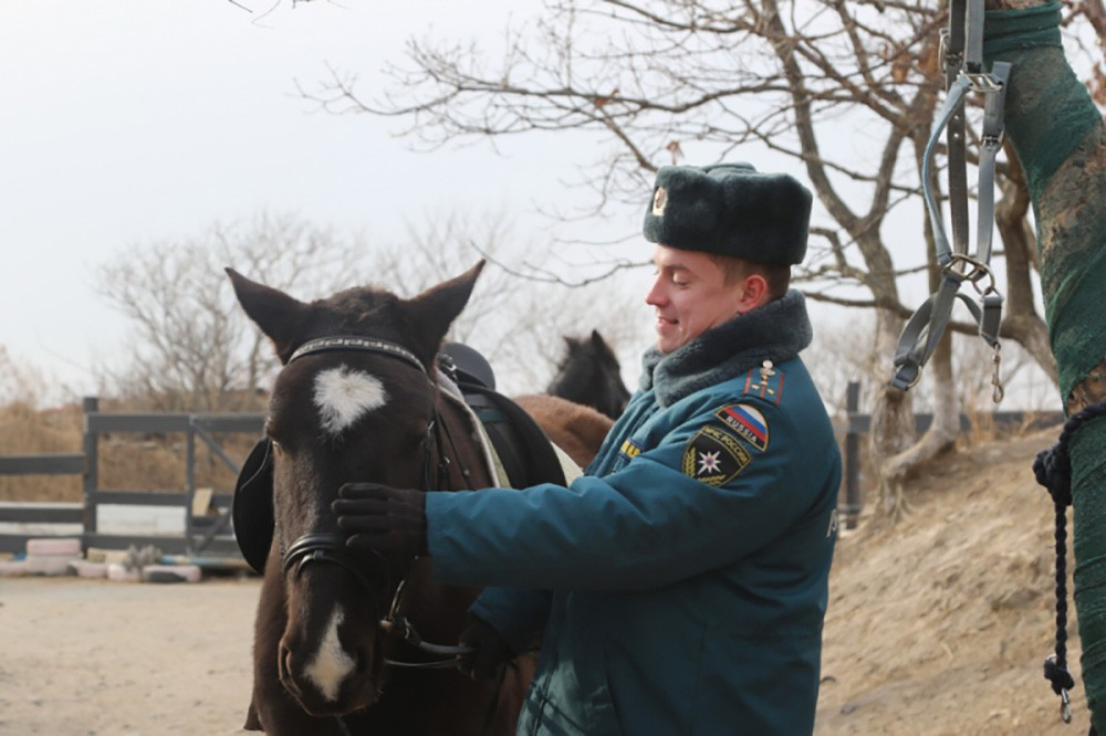 Конный патруль МЧС