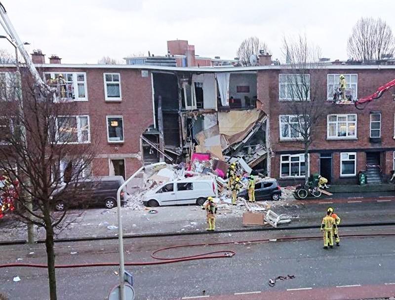 Последствия взрыва в Гааге
