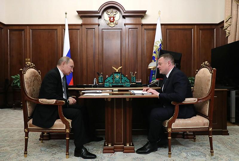 Президент России Владимир Путин и губернатор Тамбовской области Александр Никитин