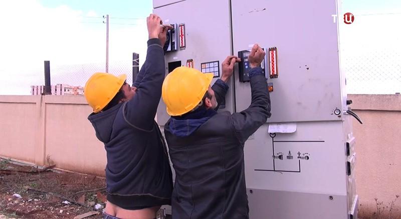 Восстановление энергоснабжения в Сирии