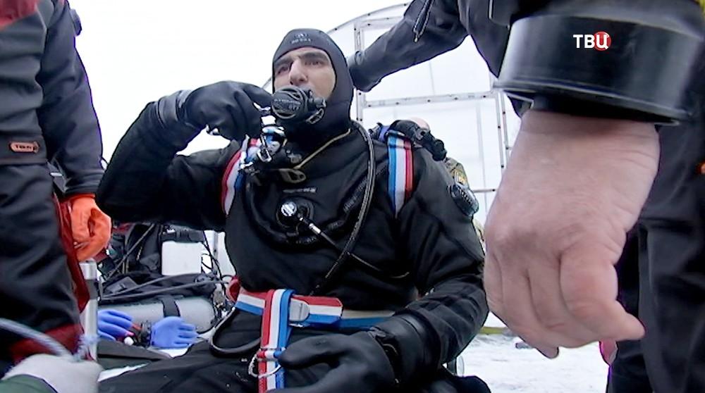 Чемпион и рекордсмен мира по дайвингу египтянин Ахмед Гавр