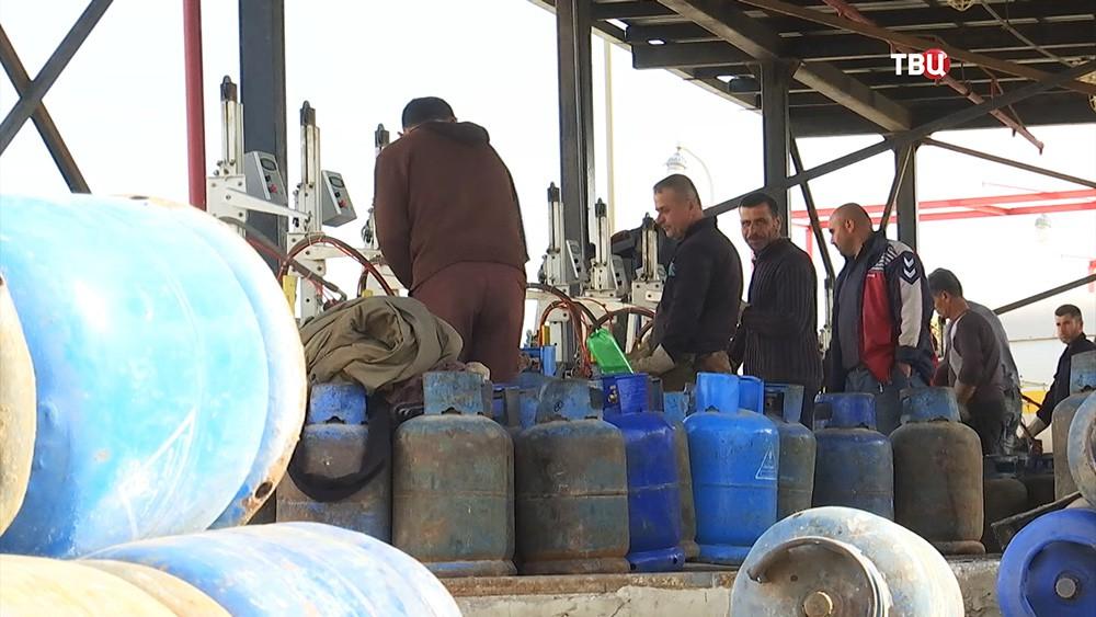 Заправка газовых баллонов в Сирии