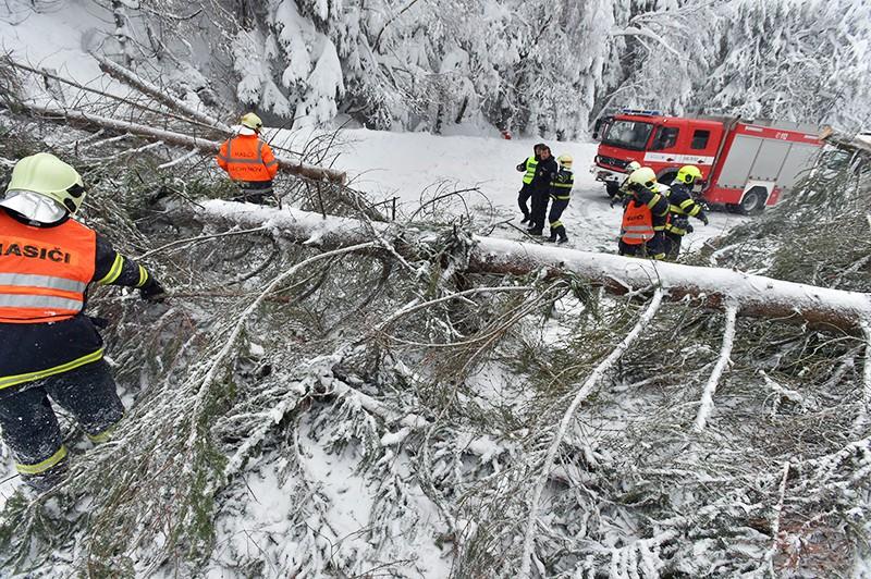 Последствия снегопада в Чехии