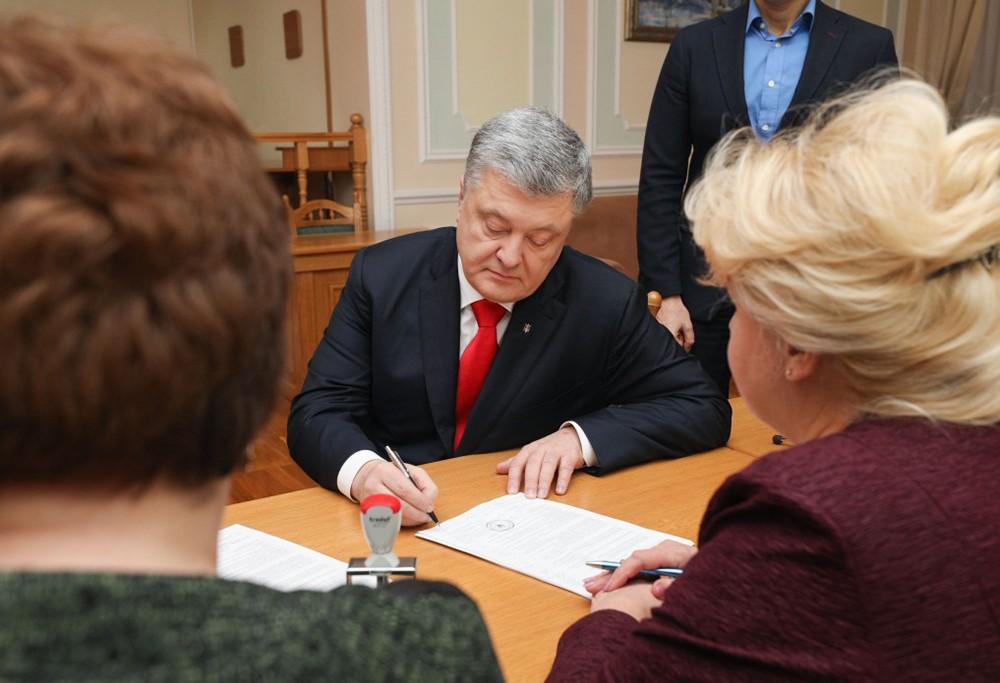 Пётр Порошенко в ЦИК