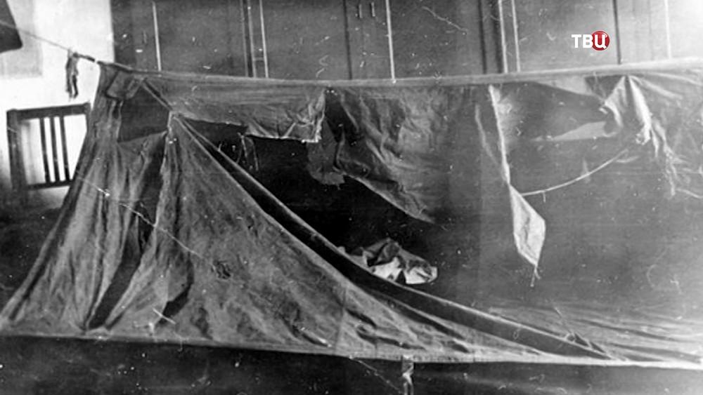 Палатка группы Дятлова