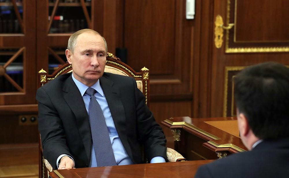 Владимир Путин и Андрей Воробьёв