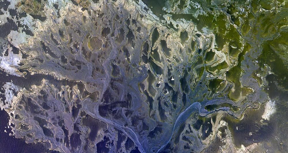 Снимок поверхности Марса с аппарата TGO