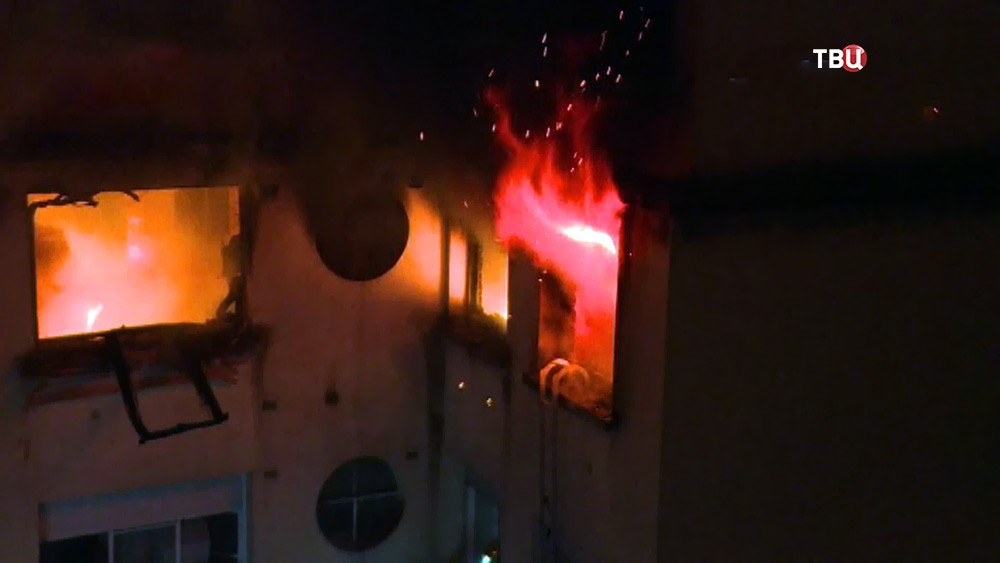 Пожар в Парижа