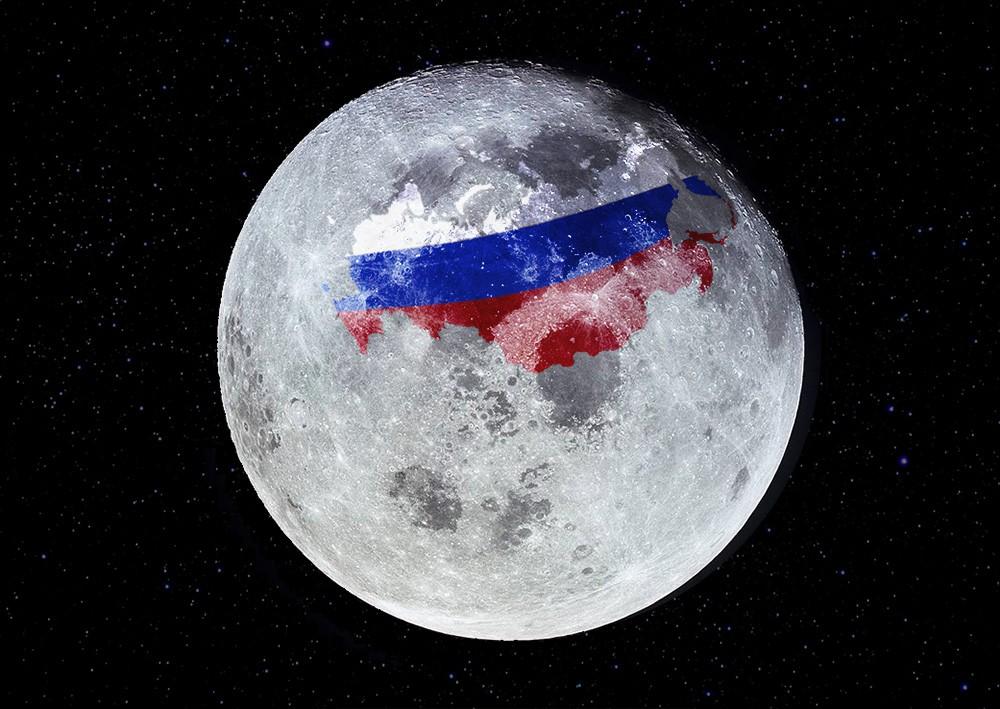 Луна с картой России