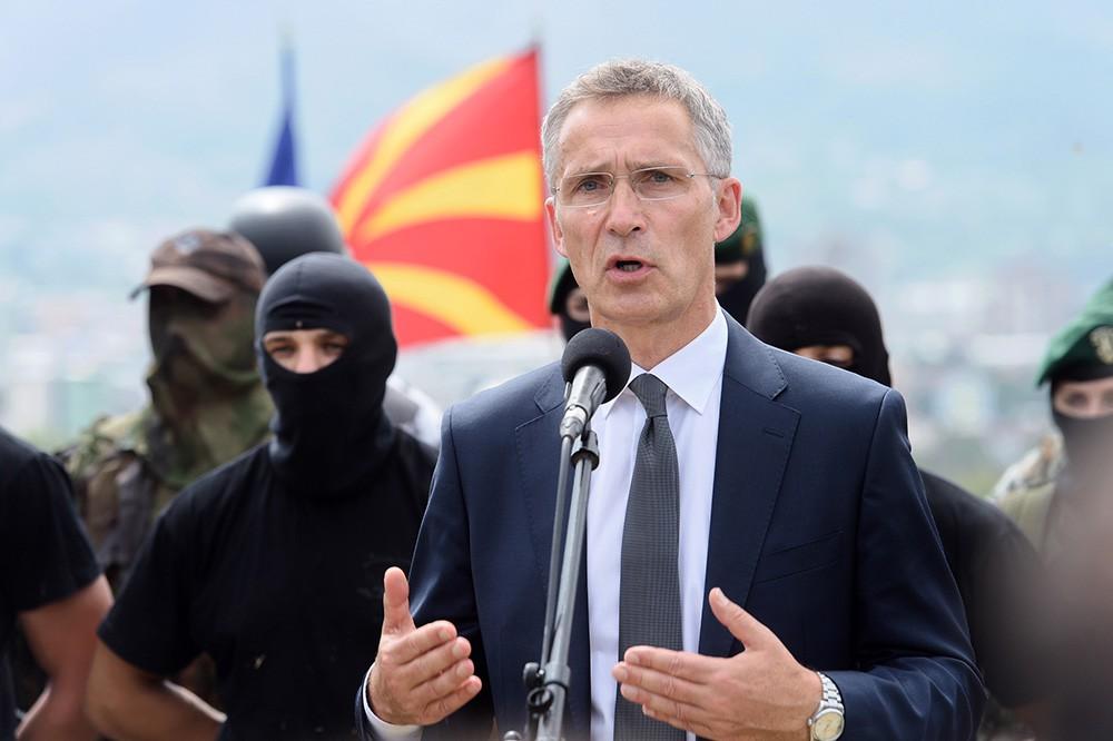 Генсек НАТО Йенс Столтенберг в Македонии