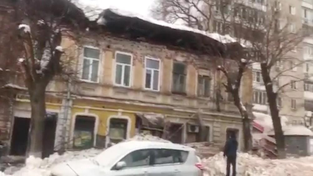 Обрушенный дом в Саратове