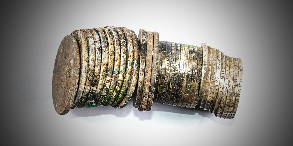 Монеты из найденного клада