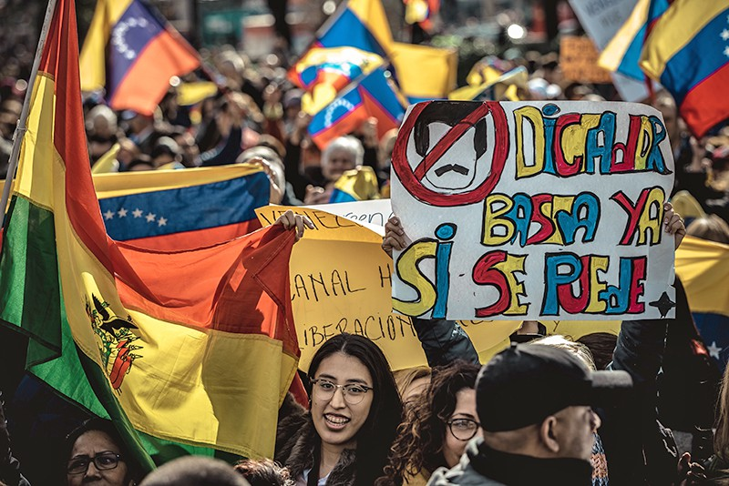 Акция протеста в Венесуэле