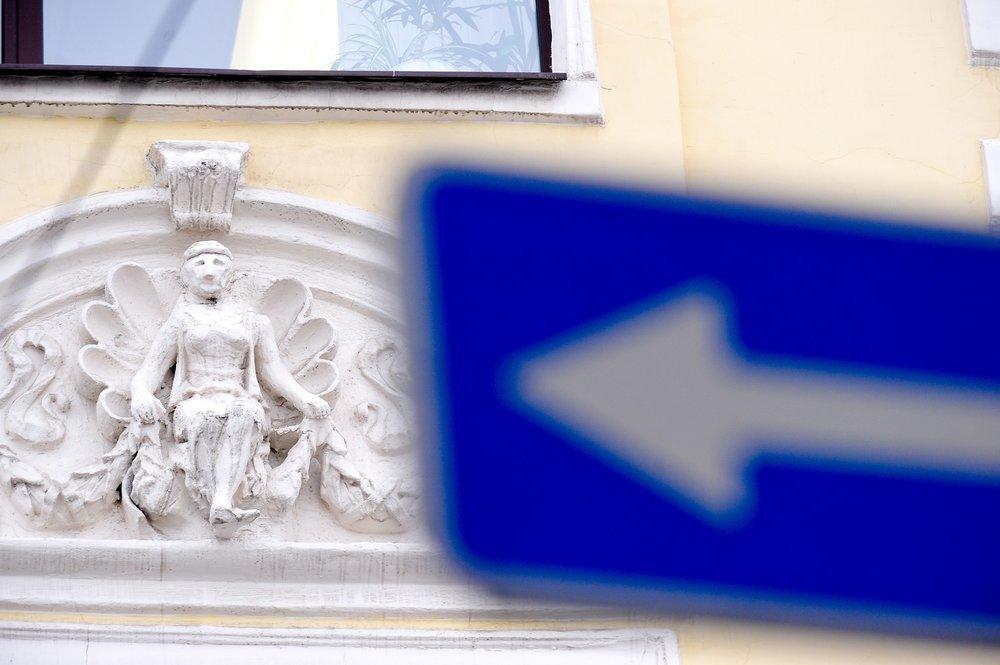 Барельефы бывшего доходного дома купца Константинова после реставрации