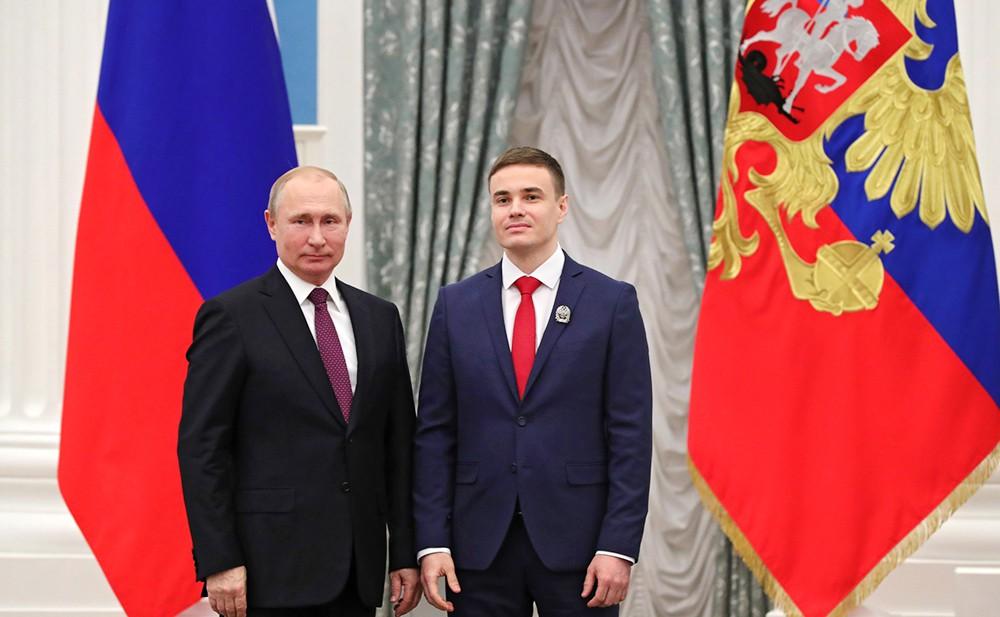Владимир Путин на церемонии вручения премий в области науки и инноваций для молодых учёных