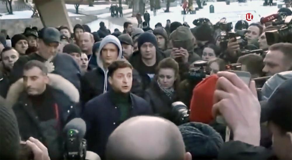 Кандидат в президенты Украины Владимир Зеленский =