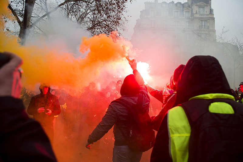 """Акция протеста """"желтых жилетов"""""""