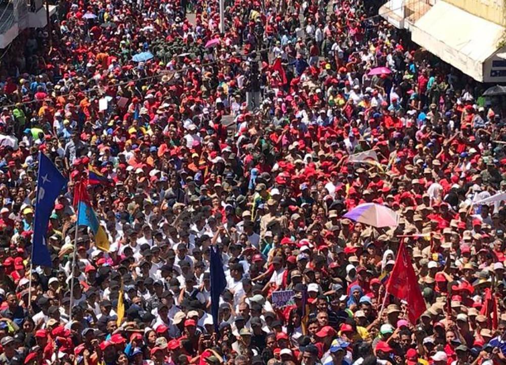 Митинг сторонников Николаса Мадуро в Венесуэле