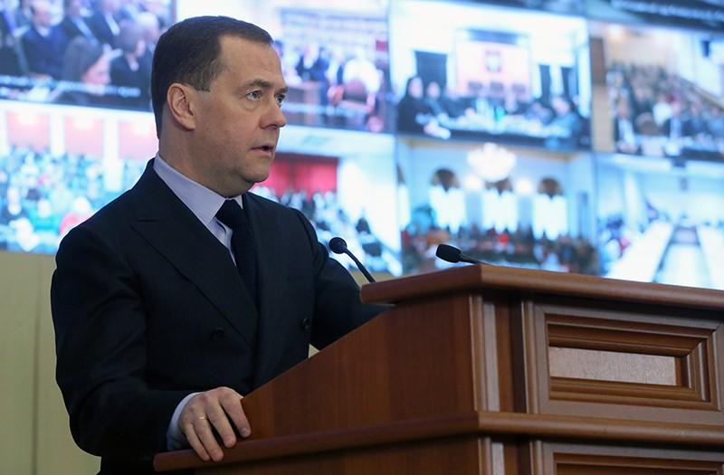 Дмитрий Медведев во время совещания-семинара судей