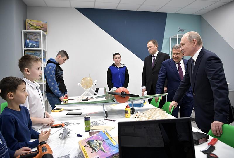Рабочая поездка Владимира Путина в Татарстан